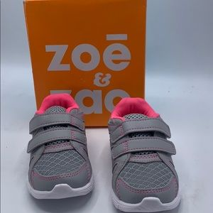 Zoe and zac girls grey and pink sneaker size 7.5